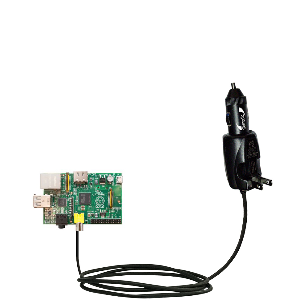 Car & Home 2 in 1 Charger compatible with the Raspberry Pi Board