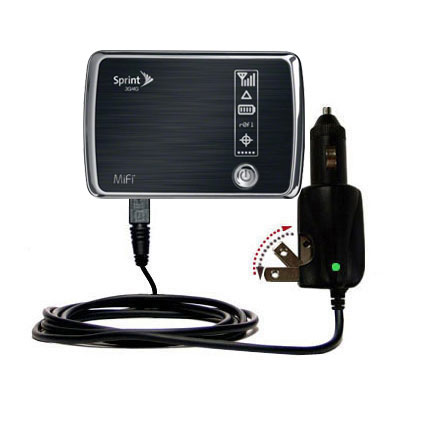 Intelligent Dual Purpose DC Vehicle and AC Home Wall Charger suitable for the Sprint 3G/4G Mobile Hotspot - Two critical functions; one unique charger - Uses Gomadic Brand TipExchange Technology