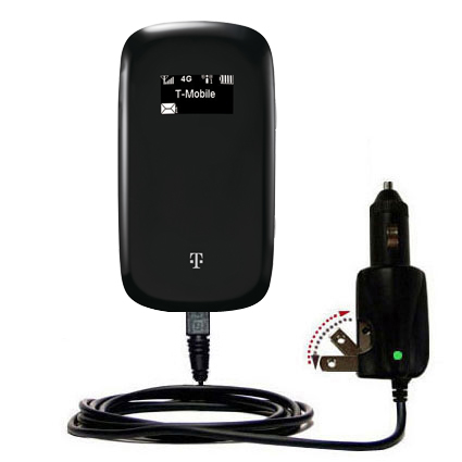 Intelligent Dual Purpose DC Vehicle and AC Home Wall Charger suitable for the T-Mobile 4G Mobile Hotspot - Two critical functions; one unique charger - Uses Gomadic Brand TipExchange Technology
