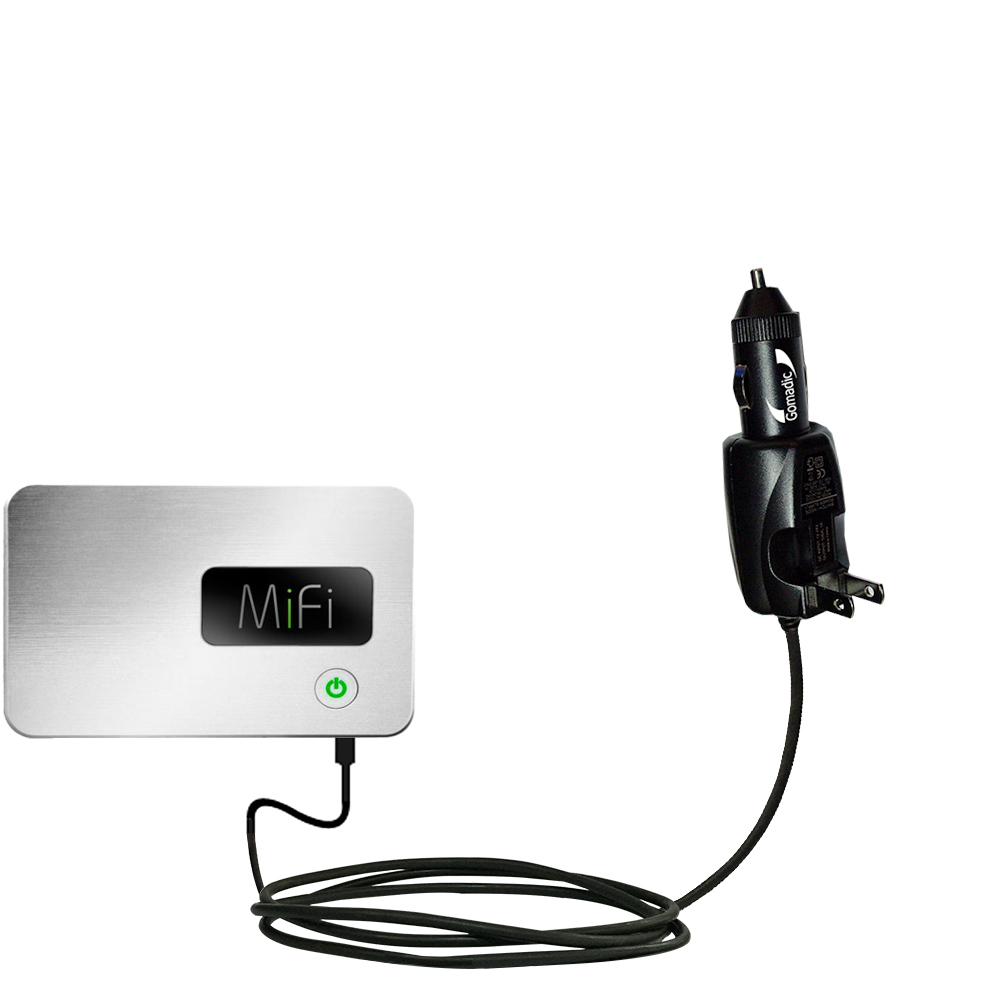 Intelligent Dual Purpose DC Vehicle and AC Home Wall Charger suitable for the Walmart Internet on the Go - Two critical functions; one unique charger - Uses Gomadic Brand TipExchange Technology