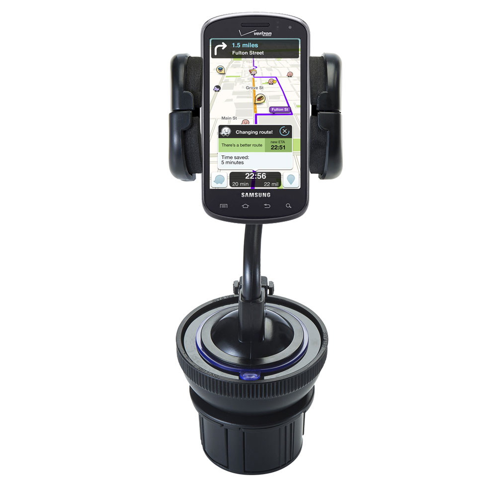 Gomadic Brand Car Auto Cup Holder Mount suitable for the Samsung Stratosphere - Attaches to your vehicle cupholder