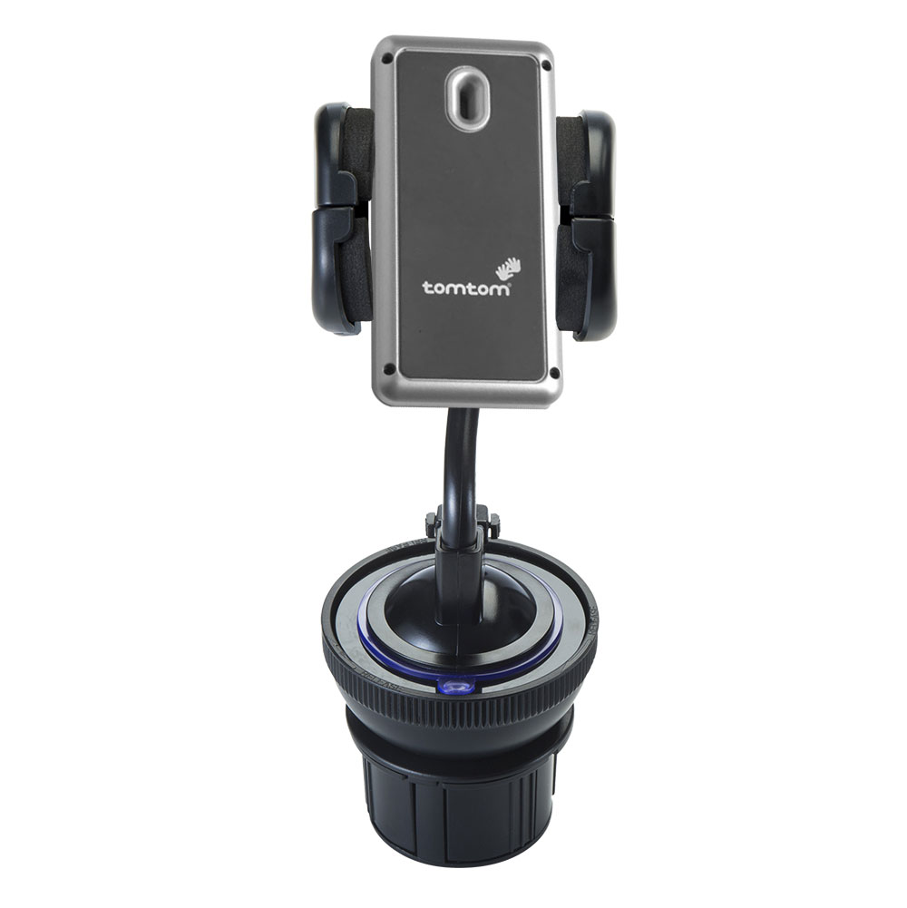 Unique Auto Cupholder and Suction Windshield Dual Purpose Mounting System for TomTom Navigator 5 - Flexible Holder System Includes Two Mount Options