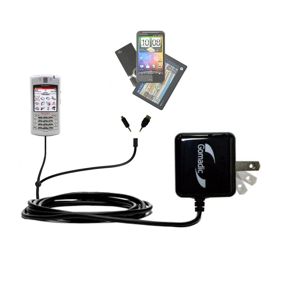 Double Wall Home Charger with tips including compatible with the Blackberry 7100x