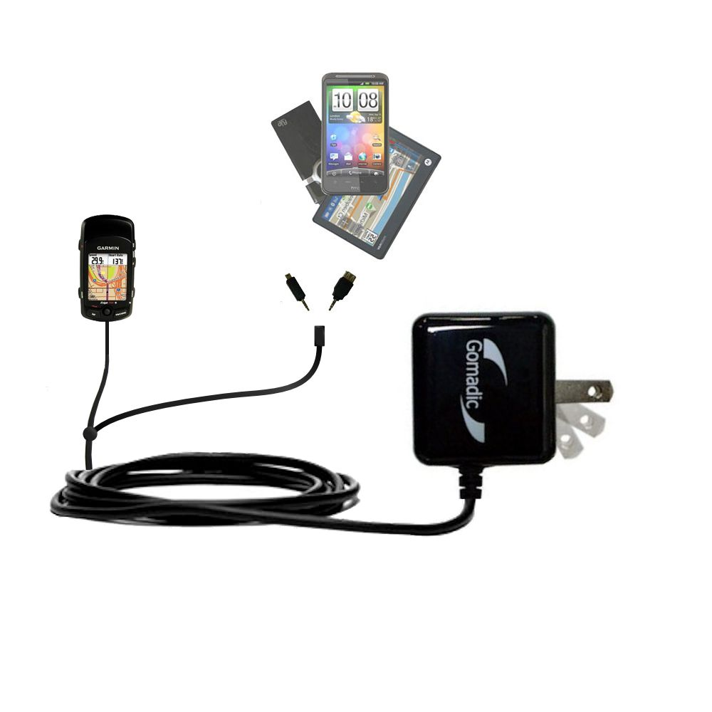 Double Wall Home Charger with tips including compatible with the Garmin Edge 705