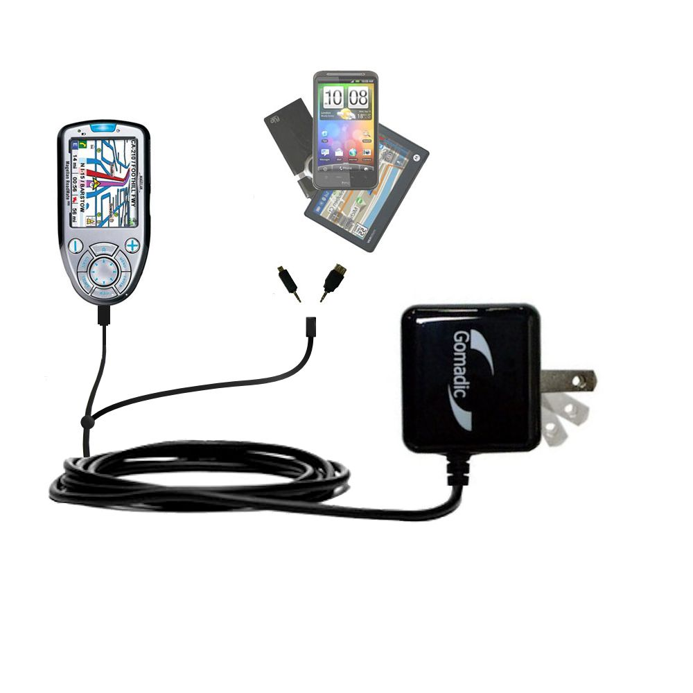 Double Wall Home Charger with tips including compatible with the Magellan Roadmate 800