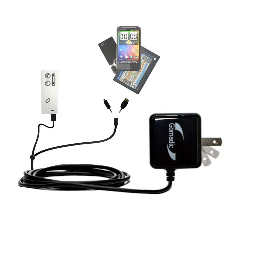 Double Wall Home Charger with tips including compatible with the Oticon Streamer