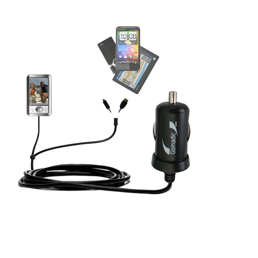 mini Double Car Charger with tips including compatible with the Palm LifeDrive