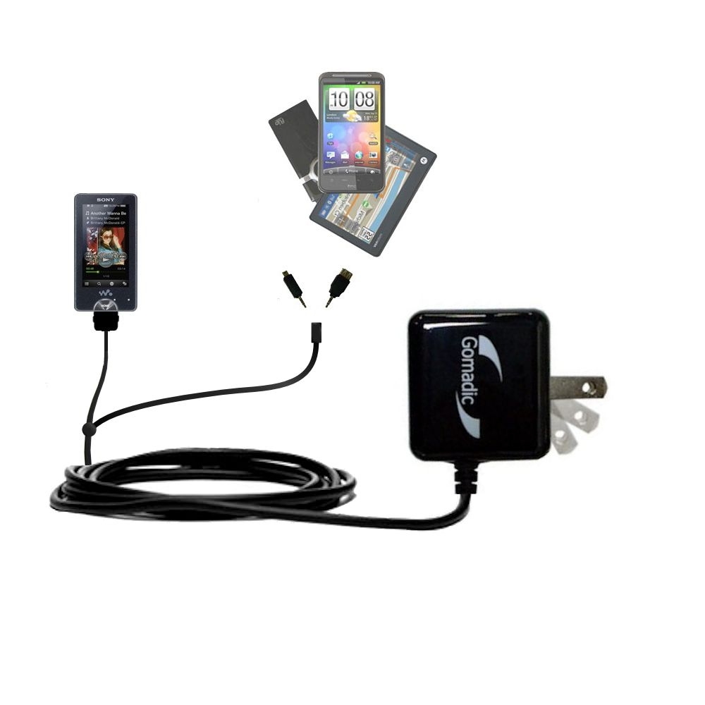 Double Wall Home Charger with tips including compatible with the Sony X Series