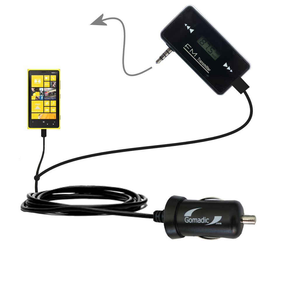 3rd Generation Powerful Audio FM Transmitter with Car Charger suitable for the Nokia Lumia 920 - Uses Gomadic TipExchange Technology