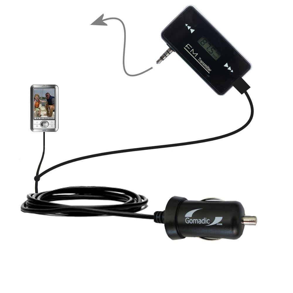 FM Transmitter Plus Car Charger compatible with the Palm LifeDrive