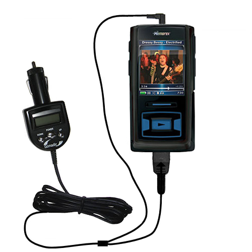 FM Transmitter & Car Charger compatible with the Memorex MMP8620 MMP8640