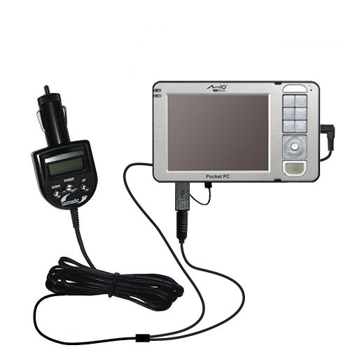 3rd Generation Audio FM Transmitter and Car Vehicle Charger suitable for the Mio 169 - Uses Gomadic TipExchange Technology