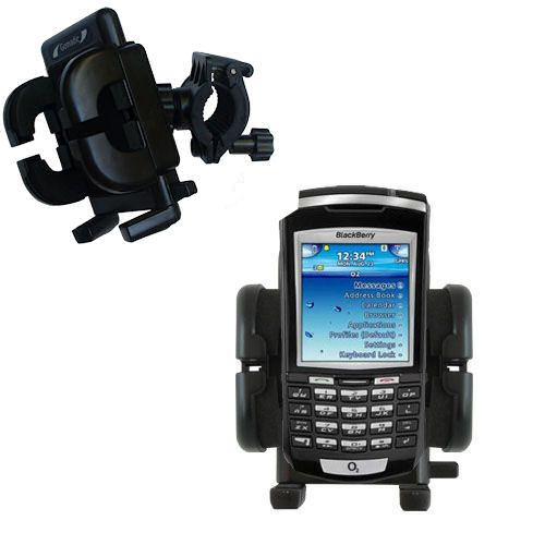 Gomadic Bike Handlebar Holder Mount System suitable for the Blackberry 7100x - Unique Holder; Lifetime Warranty