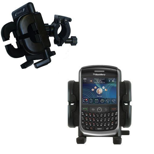 Gomadic Bike Handlebar Holder Mount System suitable for the Blackberry 8900 - Unique Holder; Lifetime Warranty