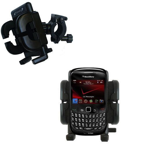 Gomadic Bike Handlebar Holder Mount System suitable for the Blackberry Bold 9650 - Unique Holder; Lifetime Warranty