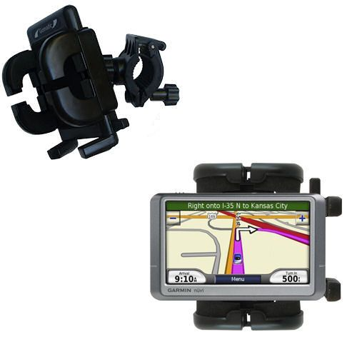 Gomadic Bike Handlebar Holder Mount System suitable for the Garmin Nuvi 255W 255WT 255 - Unique Holder; Lifetime Warranty
