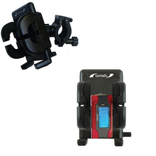 Gomadic Bike Handlebar Holder Mount System suitable for the iRiver T30 - Unique Holder; Lifetime Warranty