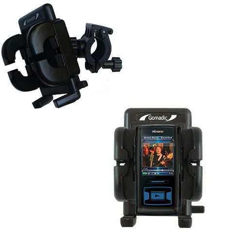 Gomadic Bike Handlebar Holder Mount System suitable for the Memorex MMP8620 MMP8640 - Unique Holder; Lifetime Warranty