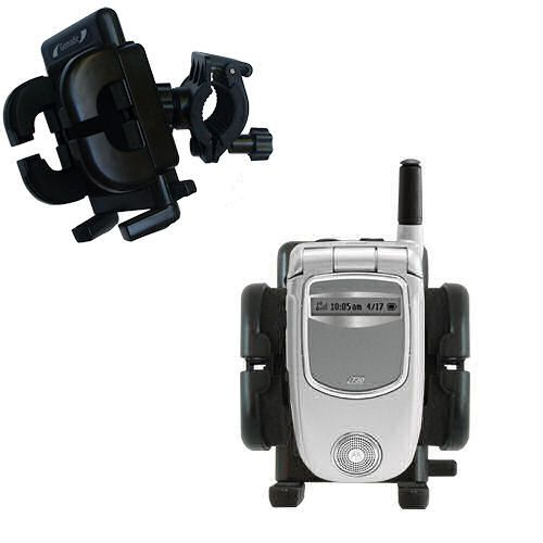Gomadic Bike Handlebar Holder Mount System suitable for the Motorola i730 - Unique Holder; Lifetime Warranty