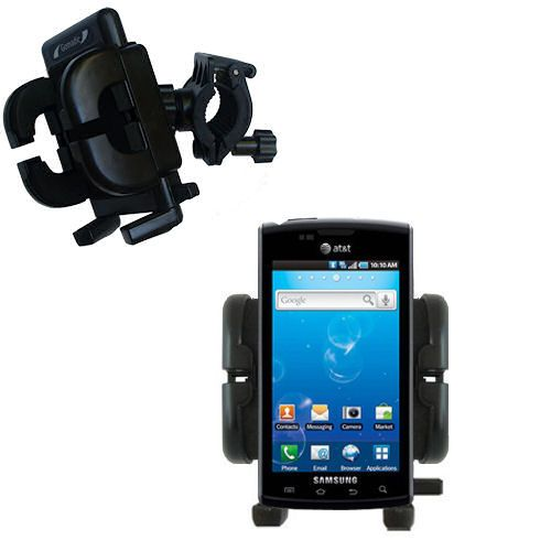 Gomadic Bike Handlebar Holder Mount System suitable for the Samsung Captivate - Unique Holder; Lifetime Warranty