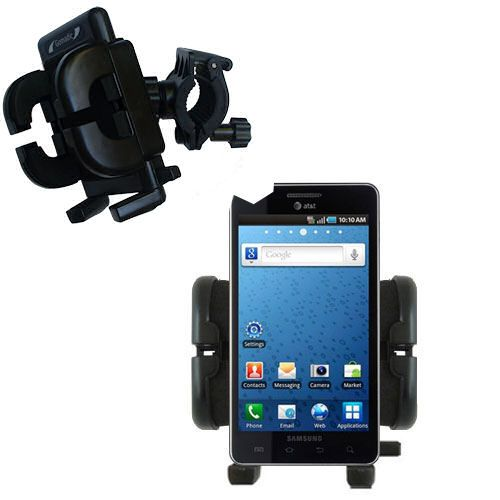 Gomadic Bike Handlebar Holder Mount System suitable for the Samsung Infuse 4G - Unique Holder; Lifetime Warranty