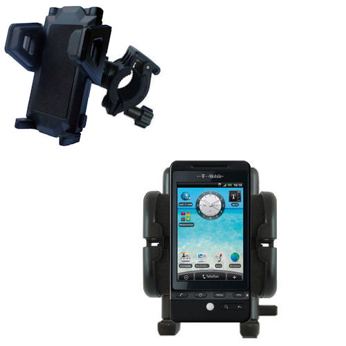 Gomadic Bike Handlebar Holder Mount System suitable for the T-Mobile G2 - Unique Holder; Lifetime Warranty