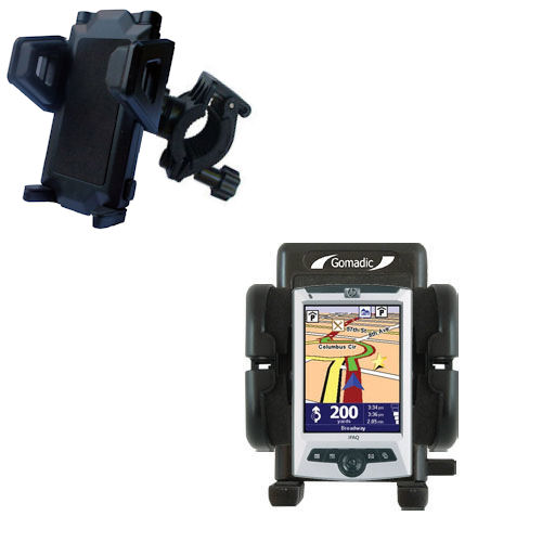 Gomadic Bike Handlebar Holder Mount System suitable for the TomTom Navigator 5 - Unique Holder; Lifetime Warranty