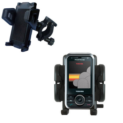Gomadic Bike Handlebar Holder Mount System suitable for the Toshiba G500 - Unique Holder; Lifetime Warranty