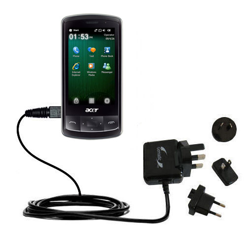 International Wall Charger compatible with the Acer beTouch E200 E210