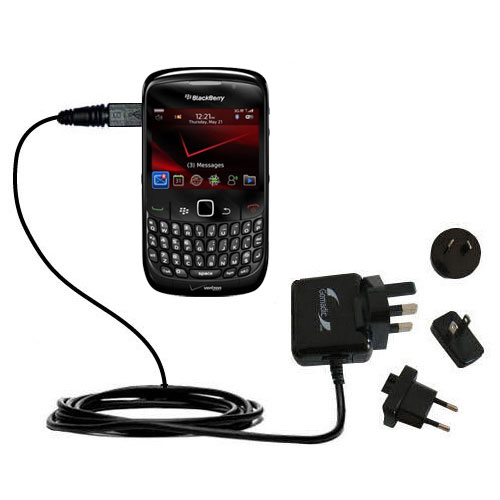 International Wall Charger compatible with the Blackberry Bold 9650