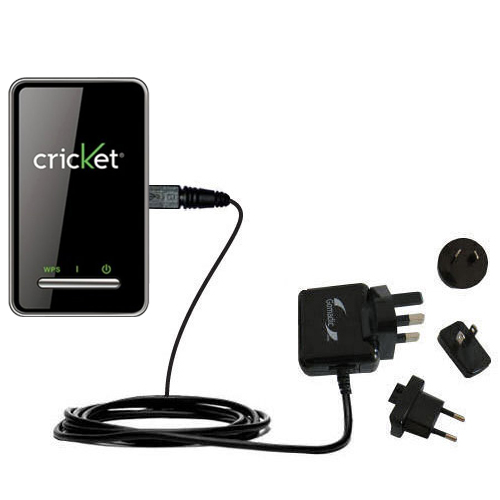 International AC Home Wall Charger suitable for the Cricket Crosswave WiFi Hotspot - 10W Charge supports wall outlets and voltages worldwide - Uses Gomadic Brand TipExchange