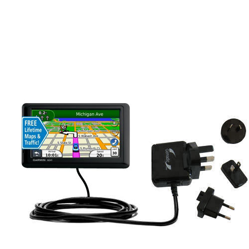 International Wall Charger compatible with the Garmin nuvi 1490LMT 1490T