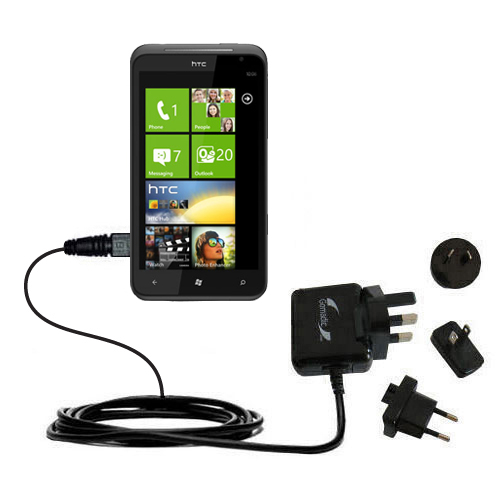 International Wall Charger compatible with the HTC Titan