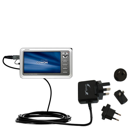 International Wall Charger compatible with the Cowon iAudio A2 Portable Media Player
