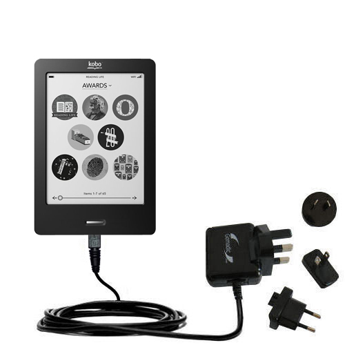 International Wall Charger compatible with the Kobo eReader Touch