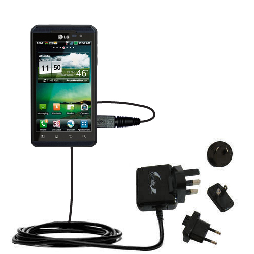International Wall Charger compatible with the LG Thrill 4G
