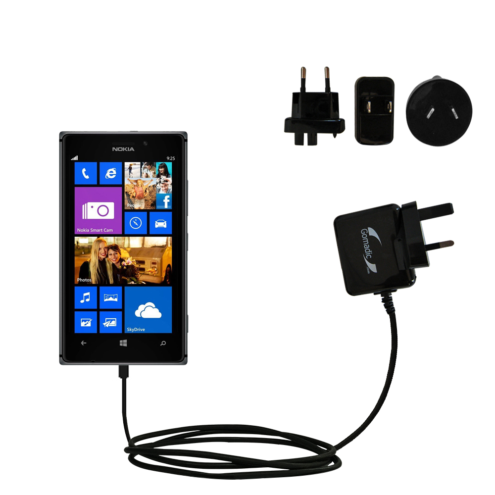 International Wall Charger compatible with the Nokia Lumia 925