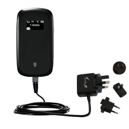 International AC Home Wall Charger suitable for the T-Mobile 4G Mobile Hotspot - 10W Charge supports wall outlets and voltages worldwide - Uses Gomadic Brand TipExchange