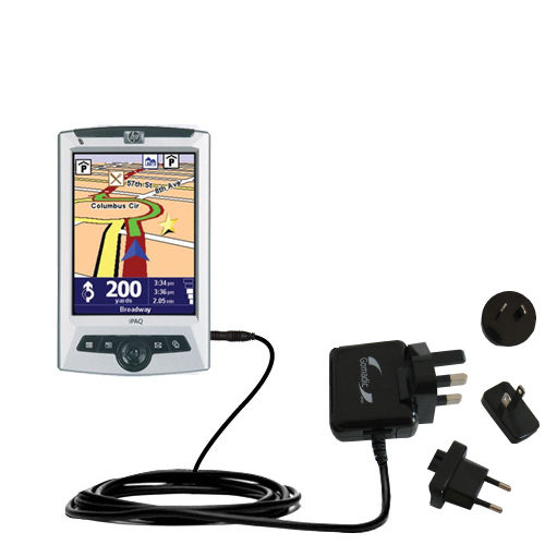 International AC Home Wall Charger suitable for the TomTom Navigator 5 - 10W Charge supports wall outlets and voltages worldwide - Uses Gomadic Brand TipExchange