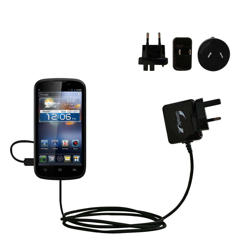 International Wall Charger compatible with the ZTE Awe