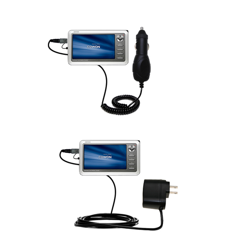 Car & Home Charger Kit compatible with the Cowon iAudio A2 Portable Media Player