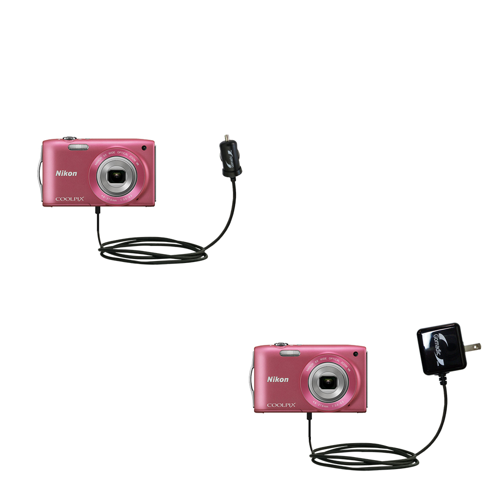 Car & Home Charger Kit compatible with the Nikon Coolpix S3200 / S3300