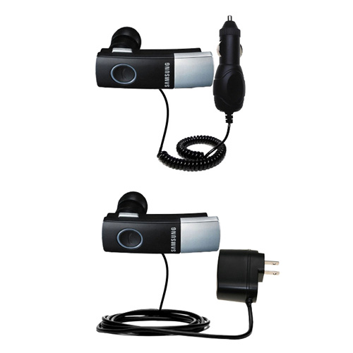 Gomadic Car And Wall Charger Essential Kit Suitable For The Samsung Bluetooth Headset WEP410