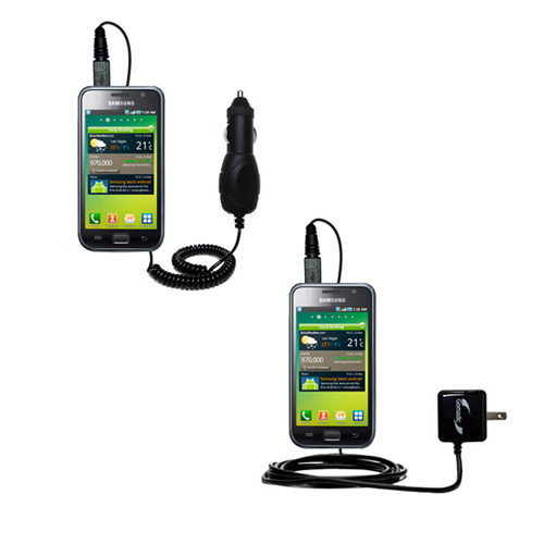 Gomadic Car and Wall Charger Essential Kit suitable for the Samsung Galaxy S - Includes both AC Wall and DC Car Charging Options with TipExchange