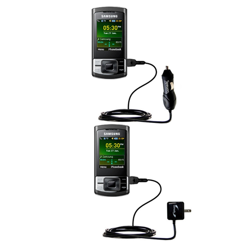 Car & Home Charger Kit compatible with the Samsung GT-C3050