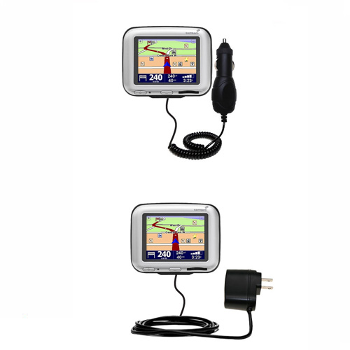 gomadic car and wall charger essential kit suitable for the tomtom go 300 includes both ac. Black Bedroom Furniture Sets. Home Design Ideas