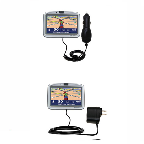 gomadic car and wall charger essential kit suitable for the tomtom go 710 includes both ac. Black Bedroom Furniture Sets. Home Design Ideas