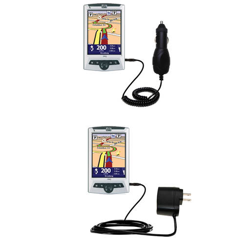 Gomadic Car and Wall Charger Essential Kit suitable for the TomTom Navigator 5 - Includes both AC Wall and DC Car Charging Options with TipExchange