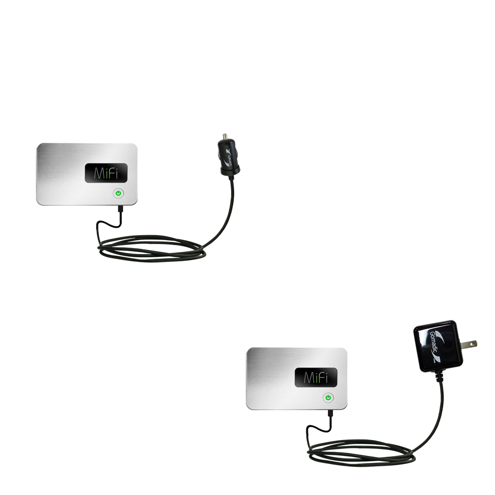 Gomadic Car and Wall Charger Essential Kit suitable for the Walmart Internet on the Go - Includes both AC Wall and DC Car Charging Options with TipExchange
