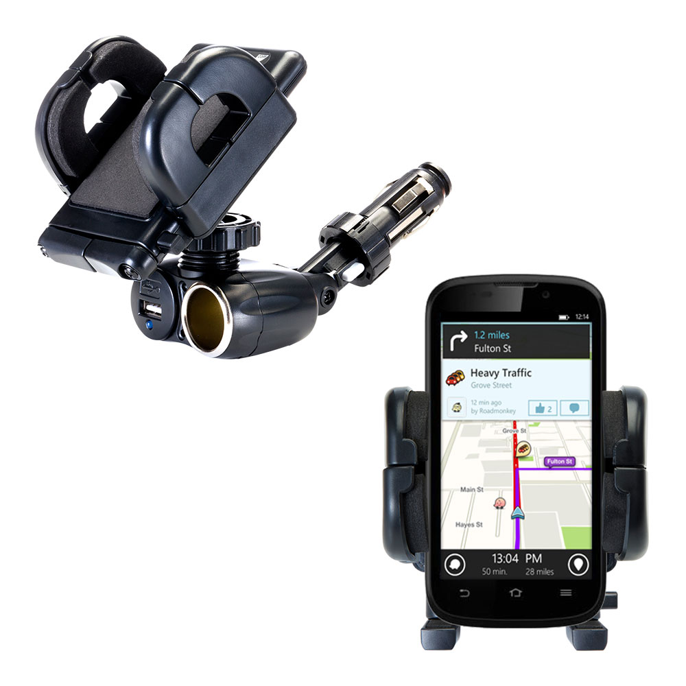 Cigarette Lighter Car Auto Holder Mount compatible with the ZTE Awe
